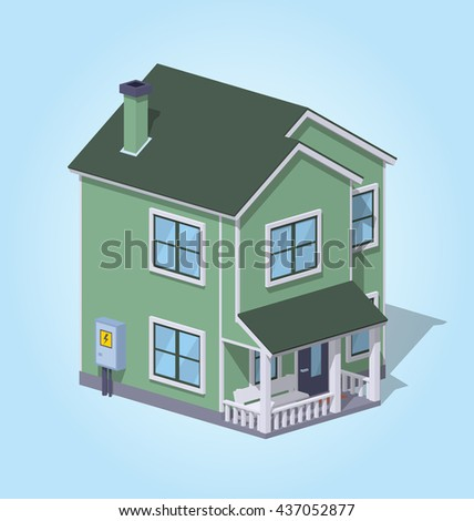 Paper House Template Stock Vector 471863558 - Shutterstock