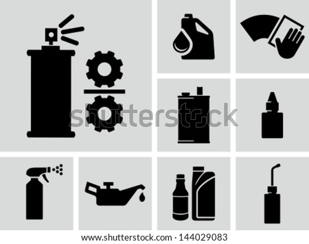 Lubricants vector icons