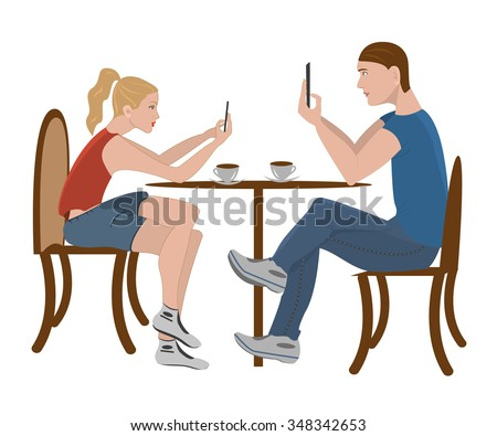stock-vector-lunch-and-learn-guy-and-girl-are-sitting-in-a-cafe-and-writing-coffee-shop-urban-society-concept-348342653 Tips for Successful Going out with of Overseas Women