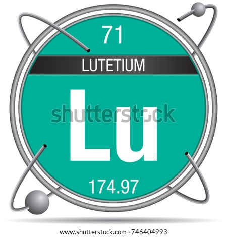 Lutetium Symbol On Chemical Flask Element Stock Vector ...