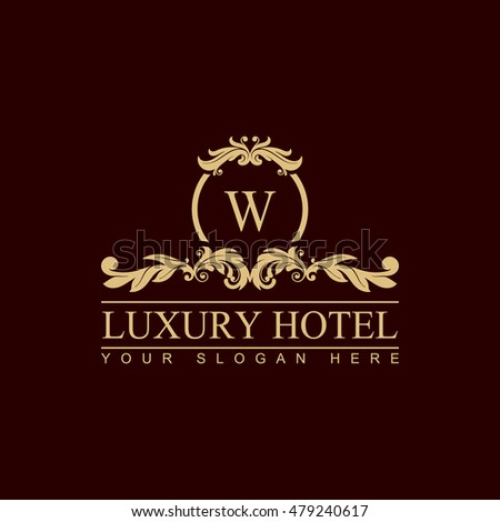 Vector monogram logo template luxury letter stock vector for Boutique hotel logo