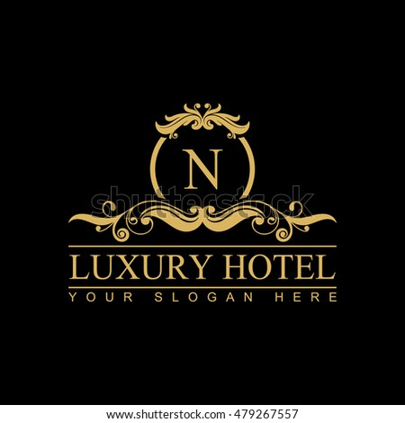 Vintage frame luxury logos restaurant hotel stock vector for Luxury hotel logo