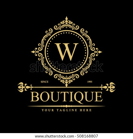 Modern stylish logo design j vector stock vector 302016800 for Boutique hotel logo