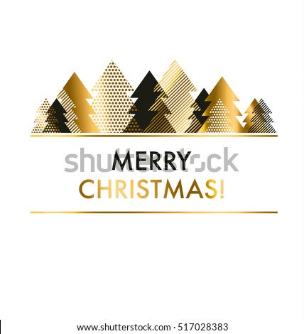luxury style black and gold Christmas card template. vector illustration of abstract holiday tree. Winter pattern. Season vector illustration. Holiday pattern
