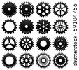 Machine Gear Wheel Cogwheel Vector - stock photo