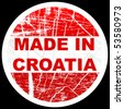 made in croatia - stock photo