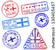Made in England. Rubber stamp vector illustrations - stock photo