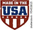 Made in the USA Vintage Shield - stock vector