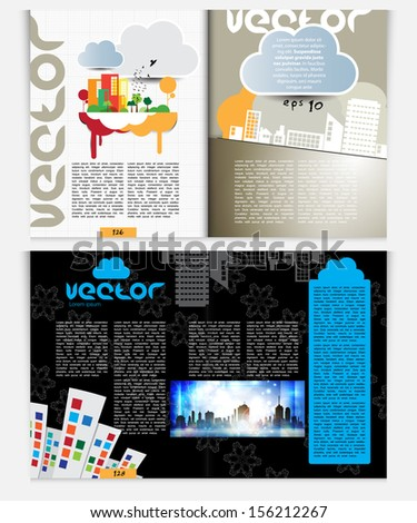 Vector house layout page stock photos illustrations and vector art