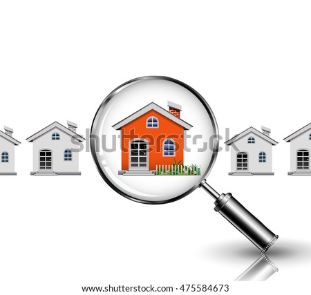 magnifying glass search your dream house