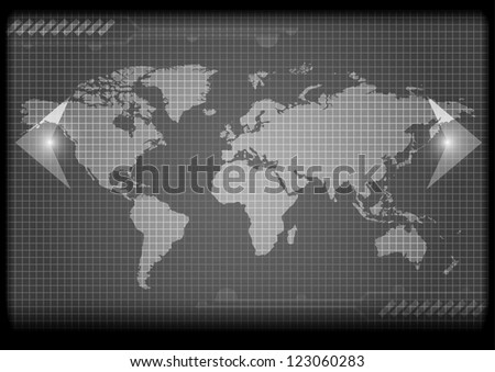 Major currencies on world map - vector business illustration