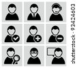 Male user avatars icons set. - stock vector