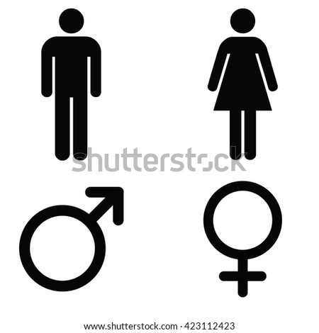 Bathroom Sign Vector Free Download man lady toilet sign male female stock vector 302258540 - shutterstock