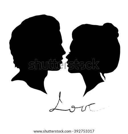 Vector Silhouette Bride Groom Beautiful Framed Stock ...