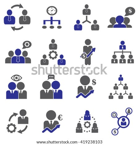 Management / Business Training And Learning Icon Set