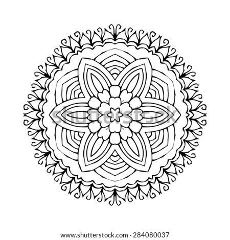 Ancient Chinese Pattern_012 Sprial Curve Flower 490249705 on Spiral Doodle Border