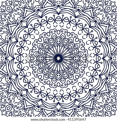 coloring page lace ornament round pattern with lots of details oriental