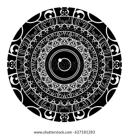 Zodiac Sign Cancer Constellation Mandala Ethnic Stock