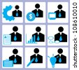 manpower and human resource icon set, vector - stock vector