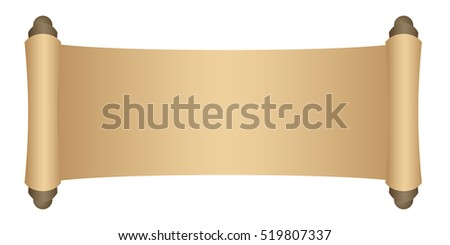 Manuscript blank paper isolated on white background. Vector illustration