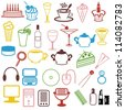 many different objects on white background - stock photo