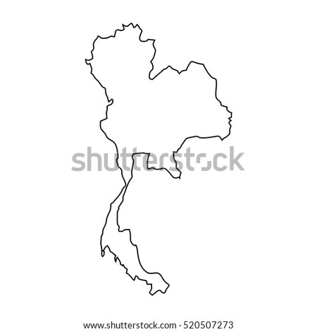Thailand Map Outline Stock Illustration 400052071 ...
