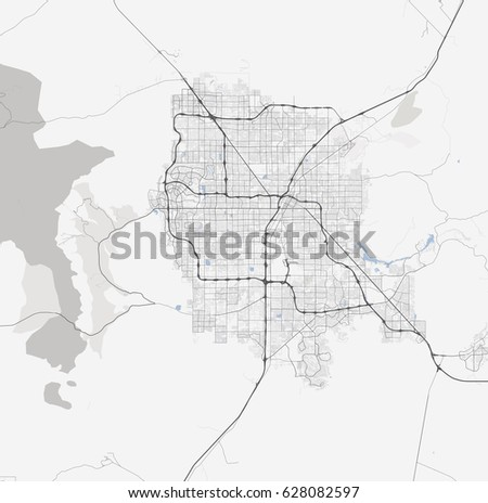 Black White Map Las Vegas Nevada Stock Vector Shutterstock - Las vegas map nevada
