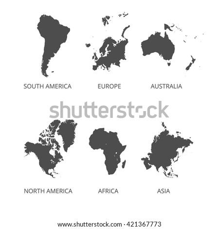 Europe Continent Silhouette