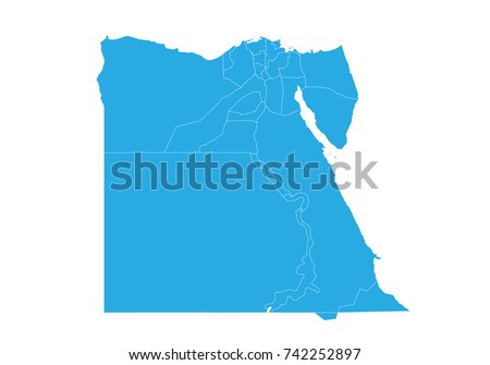 Egypt Contry Flag High Resolution Vector Stock Vector - Map of egypt high resolution