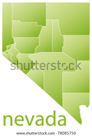 map of nevada state, usa