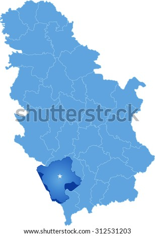 Midipyrenees Blue Map Background Vector Stock Vector - World map blank subdivisions