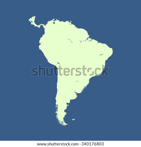 South America Outline Map Vector Map Of South America