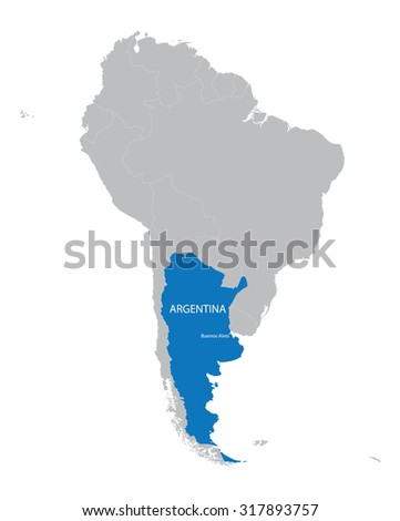 Map South America Stock Vector Shutterstock - Argentina map vector