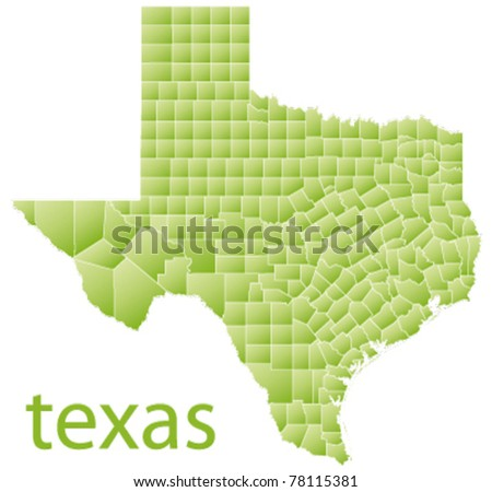 Vector Map Texas State Usa Stock Vector Shutterstock - Usa map texas state