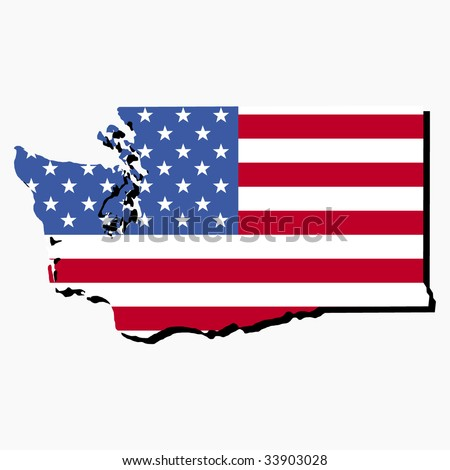 Map State Oklahoma American Flag Stock Vector Shutterstock - Map of the state of washington usa