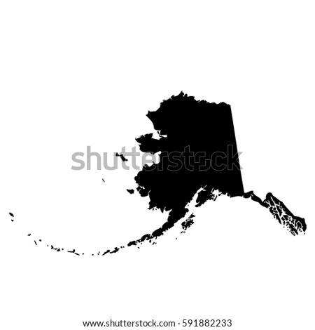 Map Us State Alaska Vector Stock Vector Shutterstock - State of alaska map