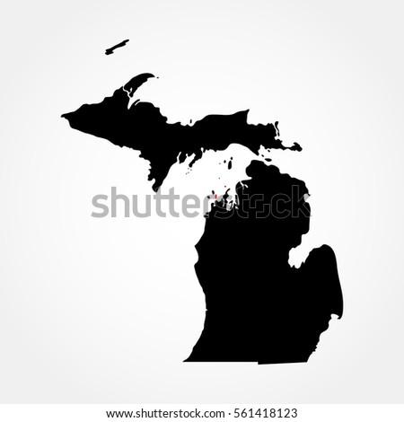Map Of The U S State Michigan