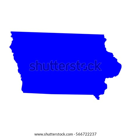 Map Us State Iowa Stock Vector Shutterstock - Iowa on a us map