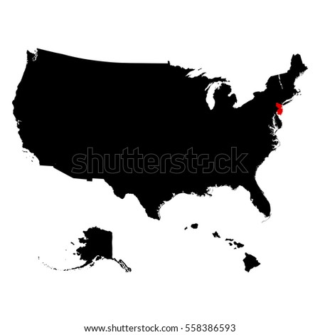 Vector Map United States America Minimap Stock Vector - Us vector map