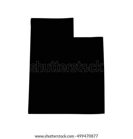 Map Us State Utah Stock Vector Shutterstock - Utah on us map