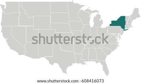 Map United States California Highlighted Stock Vector - Us map with california highlighted