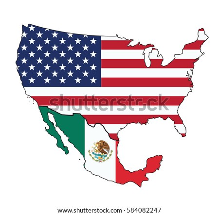 Usa Flag Map Stock Vector Shutterstock - Us map with glag