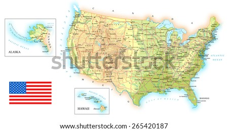 Map Of Usa Topographic