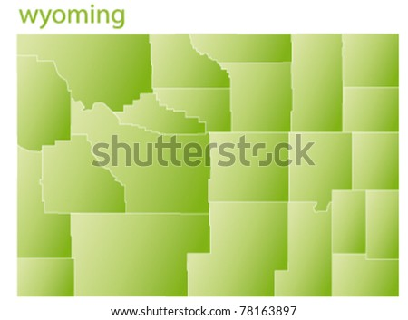 map of wyoming state, usa