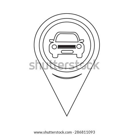 Map Pointer Car Icon