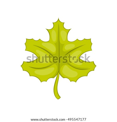 Maple leaf icon in cartoon style isolated on white background vector illustration