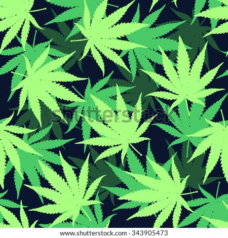 weed leaf template - seamless pattern hemp leaves on geometric stock vector
