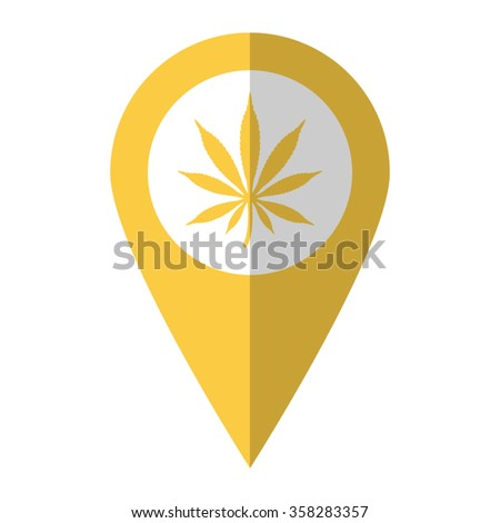 Marijuana vector icon green map pointer stock vector for Affordable pools pearl river la
