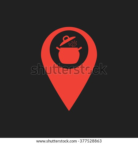 Marker location with saucepan