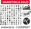 marketing & sales icons set, vector - stock vector